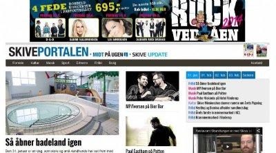 Skiveportalen.dk lanceret januar 2015, med kulturkalender