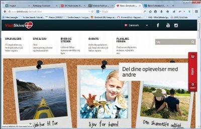 Visitskive.dk januar 2015, turisme på Skivegnen