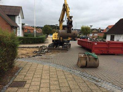 Midlertidig spærring af Bredgade i Glyngøre
