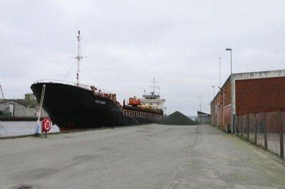 STEFANIE F og SORMOVSKIY-3054 ankommer til Skive Havn